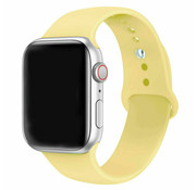 Strap-it® Apple Watch silicone band (geel)