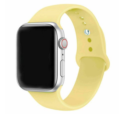 Strap-it® Strap-it® Apple Watch silicone band (geel)