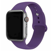 Apple Watch silicone band (paars)