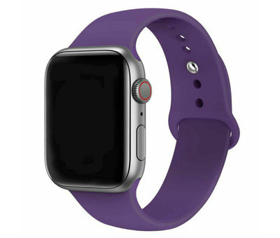 Strap-it® Strap-it® Apple Watch silicone band (paars)