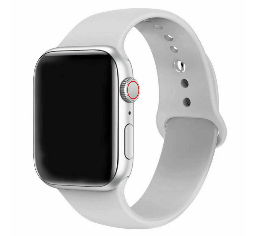 Strap-it® Apple Watch silicone band (grijs)