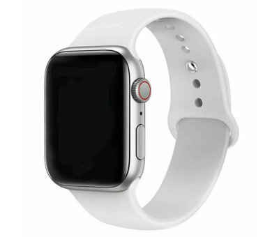 Strap-it® Strap-it® Apple Watch silicone band (wit)