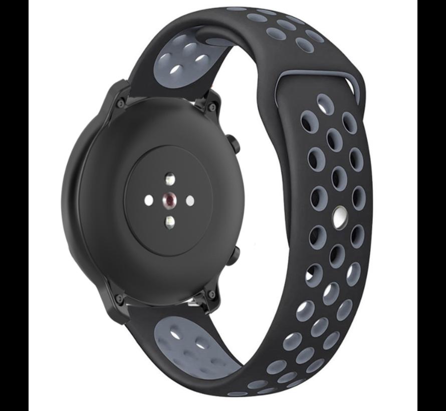 Strap-it® Garmin Vivoactive 4 sport band - 45mm - zwart/grijs