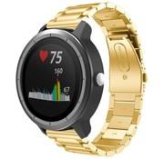 Strap-it® Garmin Vivoactive 3 stalen band (goud)