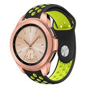 Samsung Galaxy Watch sport band 41mm / 42mm (zwart/geel)
