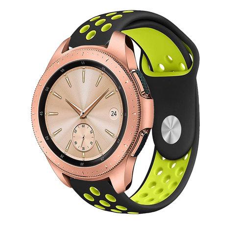Strap-it® Strap-it® Samsung Galaxy Watch sport band 41mm / 42mm (zwart/geel)