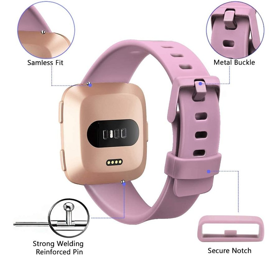 Strap-it® Fitbit Versa silicone band (oud-roze)