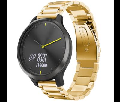 Strap-it® Strap-it® Garmin Vivomove HR stalen band (goud)