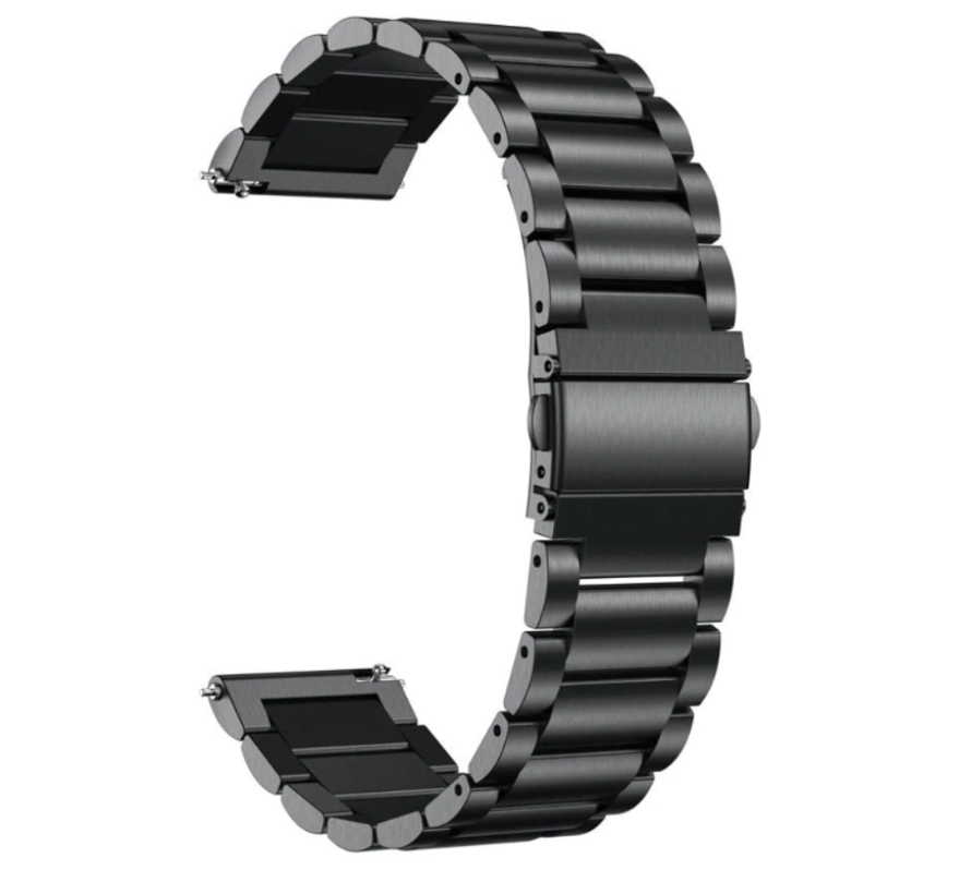 Strap-it® Garmin Vivomove HR stalen band (zwart)
