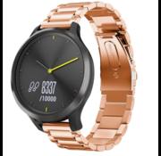 Strap-it® Garmin Vivomove HR stalen band (rosé goud)