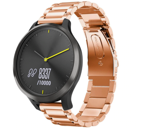 Garmin Vivomove HR stalen band (rosé goud)