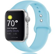 Strap-it® Apple Watch silicone band (aqua blauw)