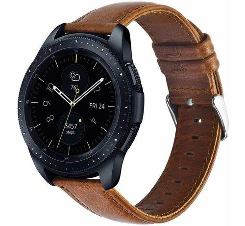 Strap-it® Strap-it® Samsung Galaxy Watch leren band 41mm / 42mm (bruin)