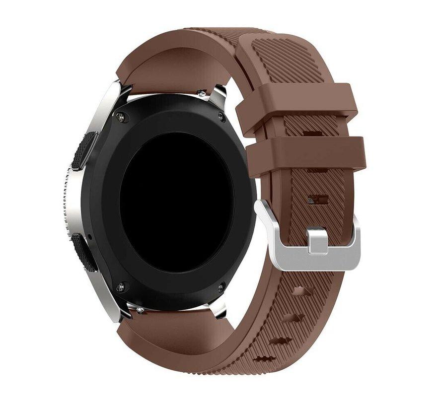 Strap-it® Samsung Galaxy Watch siliconen bandje 45mm / 46mm (koffiebruin)