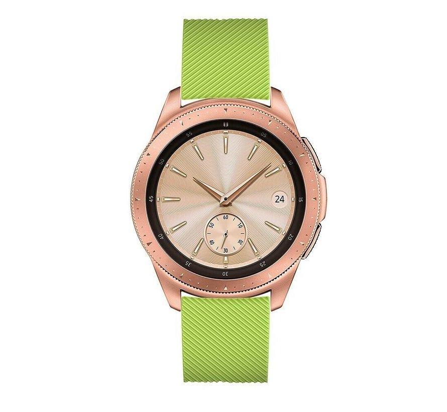 Strap-it® Samsung Galaxy Watch siliconen bandje 41mm / 42mm (lichtgroen)