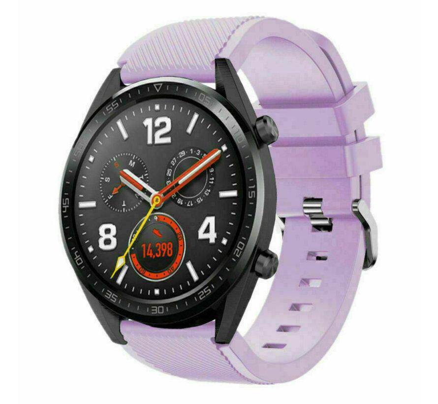 Strap-it® Huawei Watch GT siliconen bandje (lila)