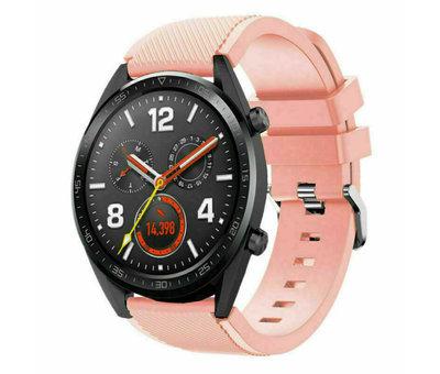 Strap-it® Strap-it® Huawei Watch GT siliconen bandje (roze)