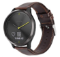 Strap-it® Garmin Vivomove HR leren bandje (donkerbruin)