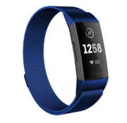Strap-it® Fitbit Charge 4 Milanese band (blauw)