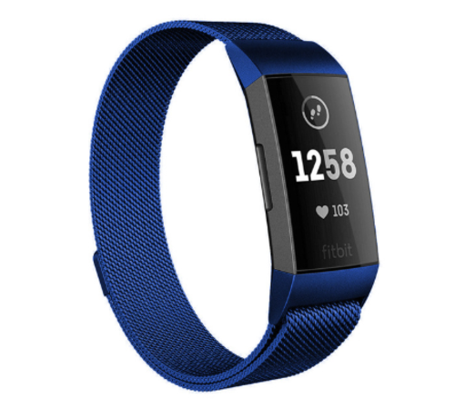 Strap-it® Strap-it® Fitbit Charge 4 Milanese band (blauw)
