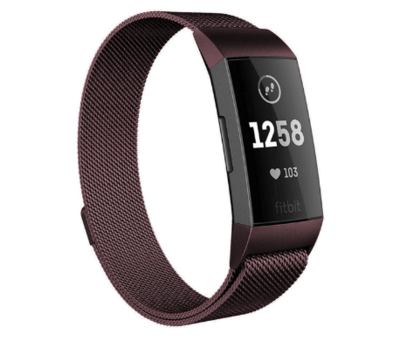 Strap-it® Strap-it® Fitbit Charge 4 Milanese band (bruin)