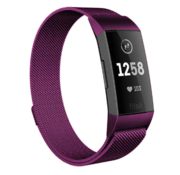 Fitbit Charge 4 Milanese band (paars)