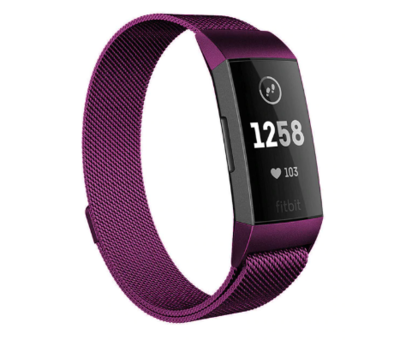 Strap-it® Strap-it® Fitbit Charge 4 Milanese band (paars)