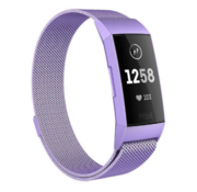Strap-it® Fitbit Charge 4 Milanese band (lila)