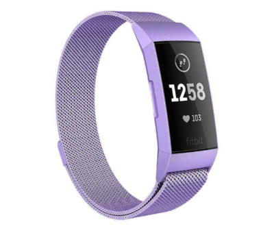 Fitbit Charge 4 Milanese band (lila)