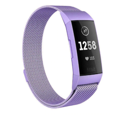 Strap-it® Strap-it® Fitbit Charge 4 Milanese band (lila)
