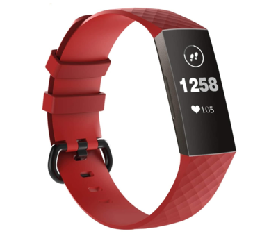Strap-it® Strap-it® Fitbit Charge 3 silicone band (rood)
