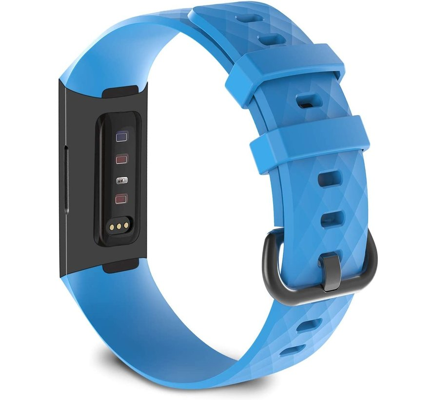 Strap-it® Fitbit Charge 3 silicone band (lichtblauw)