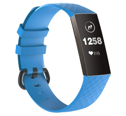 Strap-it® Strap-it® Fitbit Charge 3 silicone band (lichtblauw)
