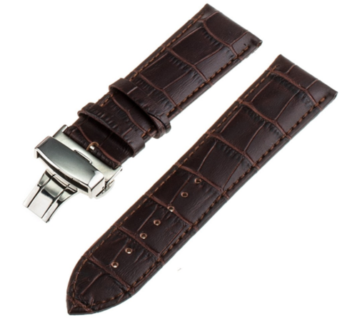 Strap-it® Strap-it® Samsung Galaxy Watch 41mm / 42mm luxe leren band (donkerbruin)