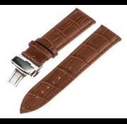Samsung Galaxy Watch 41mm / 42mm luxe leren band (bruin)