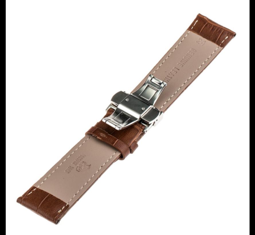 Samsung Galaxy Watch 46mm luxe leren band (bruin)