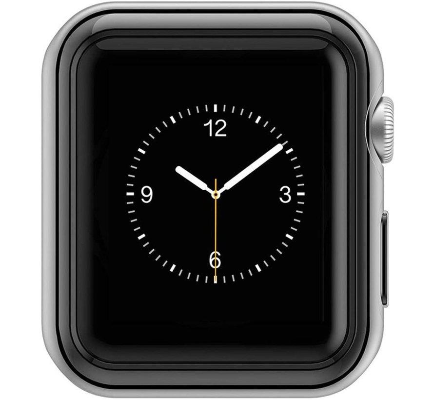 Strap-it® Apple Watch silicone case (zwart-metalic)