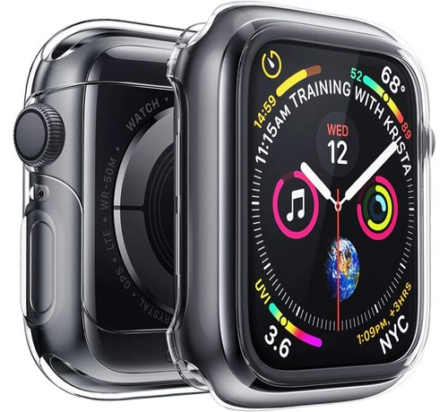 Strap-it® Strap-it® Apple Watch silicone case (transparant)
