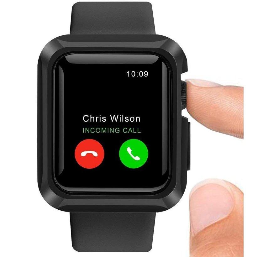 Strap-it® Apple Watch silicone shock  case (zwart)