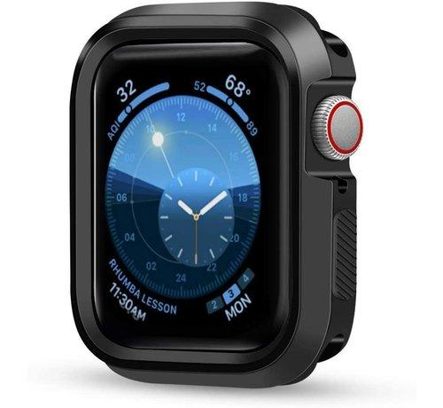 Strap-it® Strap-it® Apple Watch silicone shock  case (zwart)
