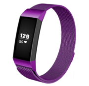 Fitbit Charge 3 Milanese band (paars)