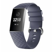 Strap-it® Fitbit Charge 4 silicone band (grijsblauw)