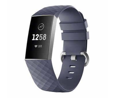 Strap-it® Strap-it® Fitbit Charge 4 silicone band (grijsblauw)