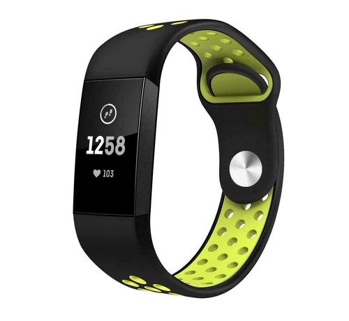 Strap-it® Strap-it® Fitbit Charge 4 sportband (zwart geel)