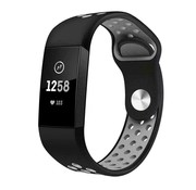 Fitbit Charge 4 sportband (zwart grijs)