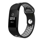 Strap-it® Fitbit Charge 4 sportband (zwart grijs)