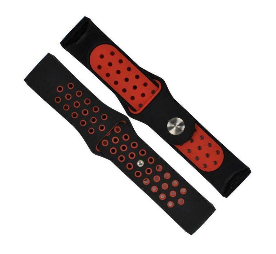 Fitbit Charge 3 sport bandje (zwart rood)