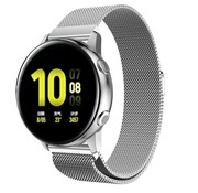 Strap-it® Samsung Galaxy Watch Active Milanese band (zilver)