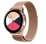 Strap-it® Samsung Galaxy Watch Active Milanese band (rosé goud)