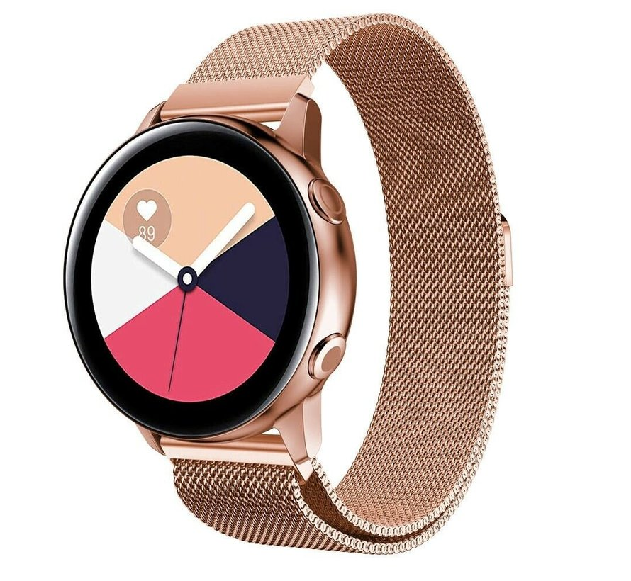 Strap-it® Samsung Galaxy Watch Active Milanese band (rosé goud)